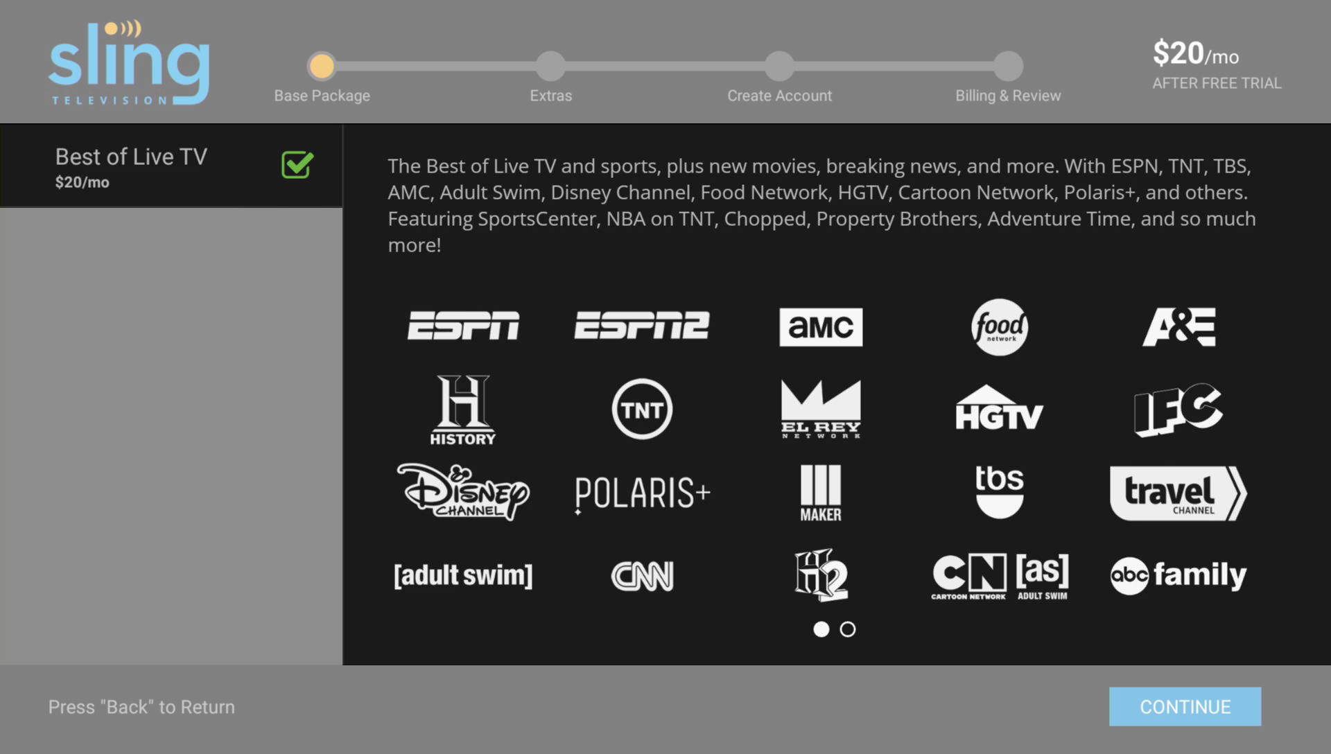 Sling Tv Best Of Live Tv Package 1 Year Subscription